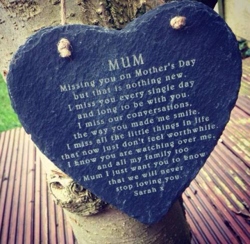 Remembering You On Mother's Day Slate Heart