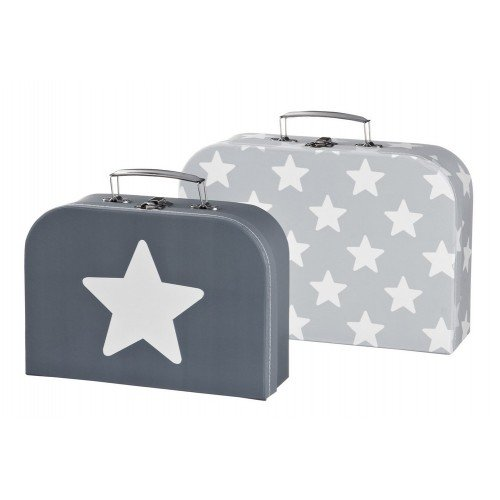 Grey Star Suitcases (Set of 2)