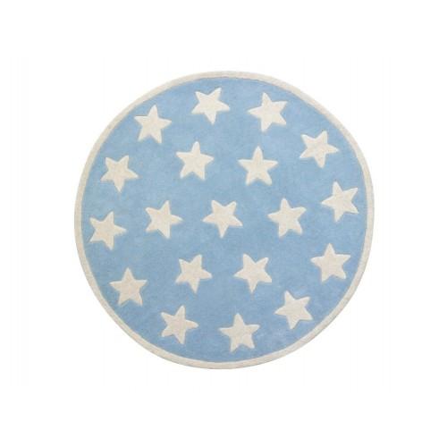 Star Blue Rug (100% Wool)