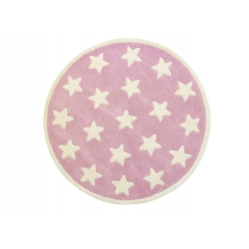 Star Pink Rug (100% wool)