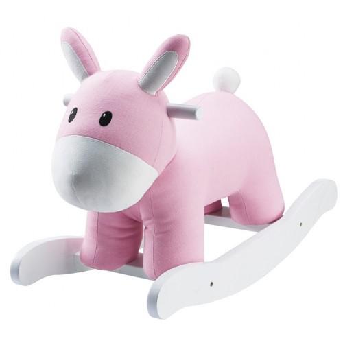 Pink Rocking Horse Zebra
