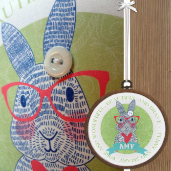 Bunny Personalised Embroidery Print