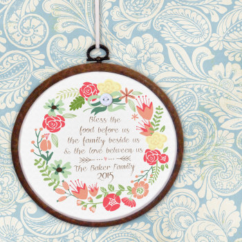 Family Personalised Embroidery Print