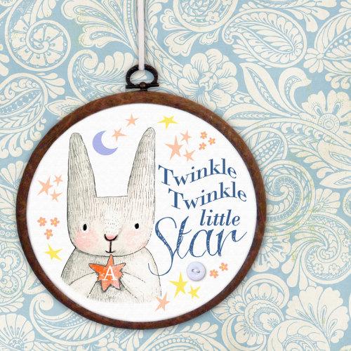 Twinkle Twinkle Personalised Embroidery Print