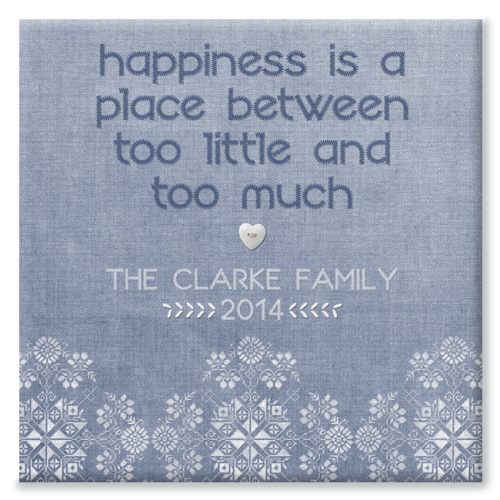 Family Happiness Personalised Canvas Print