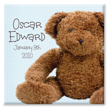 Cute Bear Personalised Canvas Print
