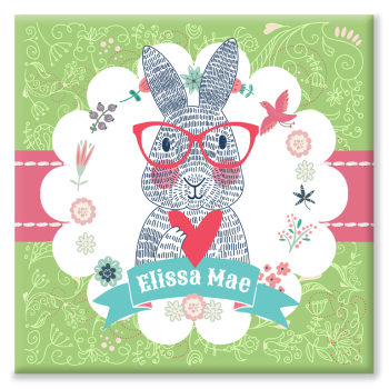 Rabbit Personalised Canvas Print
