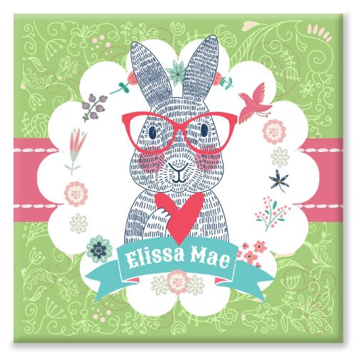 Rabbit Personalised Canvas Print