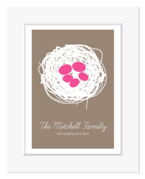 Nest and Egg Family Personalised Print