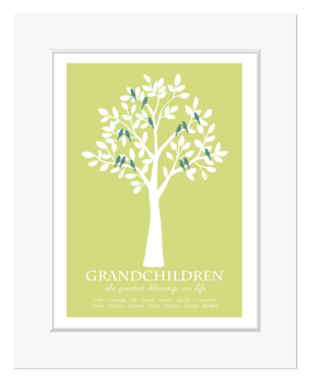 Grandchildren Tree Print