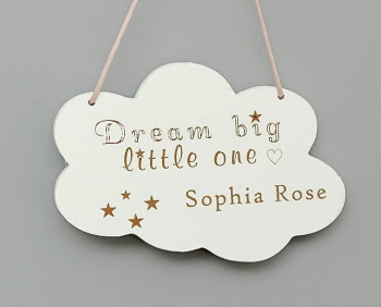 Dream Big Little One Cloud Hanging Decoration