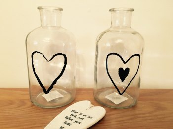Love Heart Vase (SET OF 2)