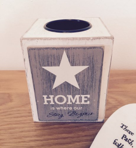 Home Is Where Our Story Begins Tea Light Holder