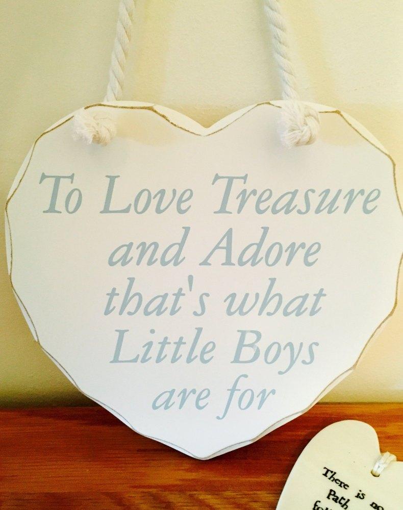 Little Boys Hanging Heart