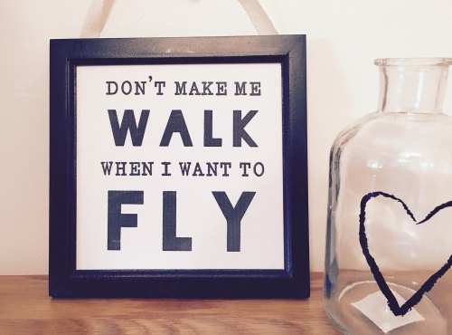 Don't Make Me Walk Hanging Plaque