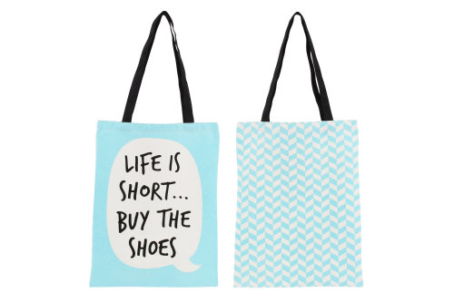 Life Is Short Canvas Shopping Bag