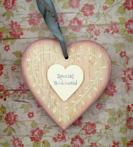 Special Bridesmaid Hanging Heart
