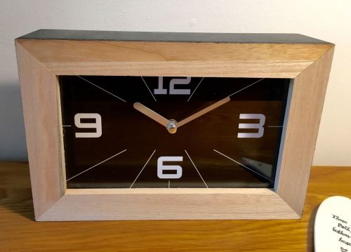 Black Modern Monochrome Style Clock