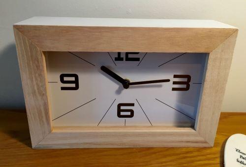 White Modern Monochrome Style Clock