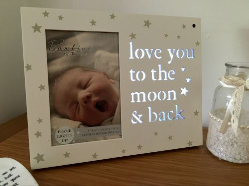 Love You To The Moon Led Light Up Photo Frame
