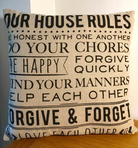 Our House Rules Scatter Cushion