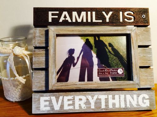 Family Is Everything Cut Out Frame