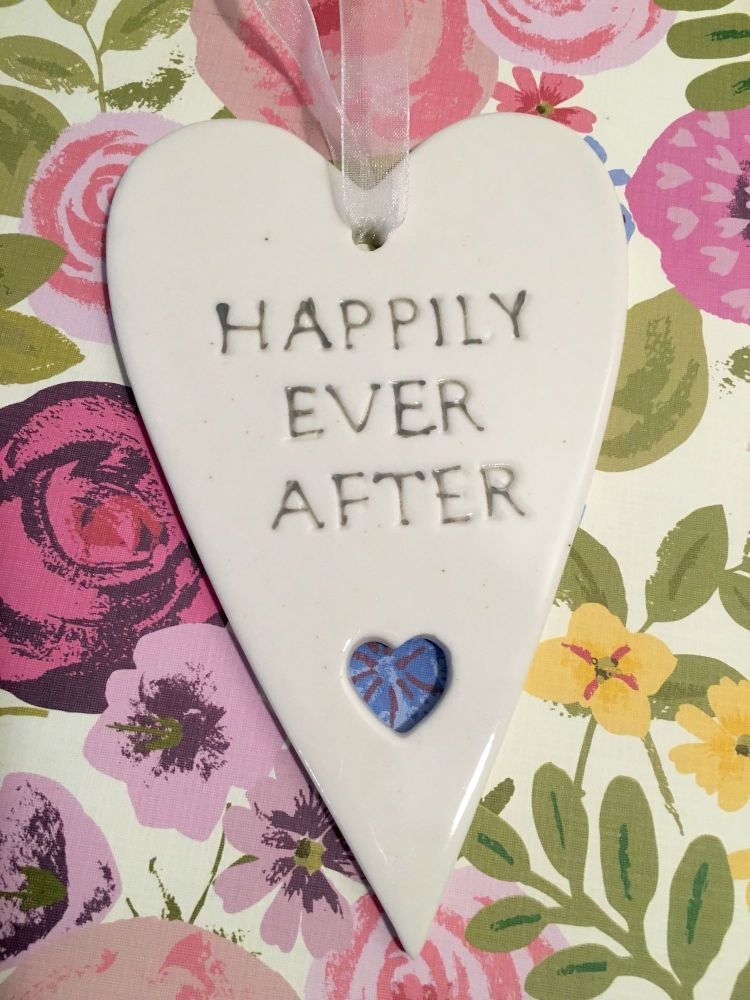 Happily Ever After Ceramic Hanging Heart