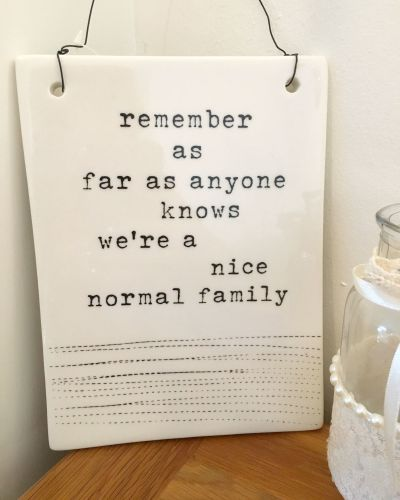 Normal Family Ceramic Hanging Sign