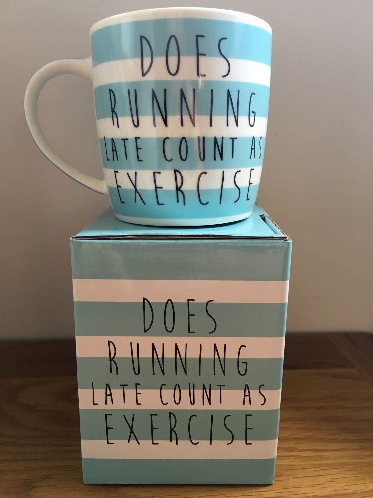 Running Late Boxed Mug