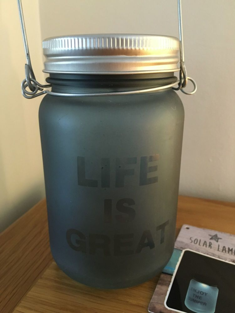 Life Is Great Solar Lantern