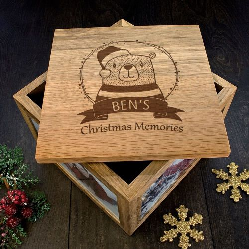 Bear Personalised Christmas Keepsake Box