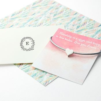 Small Heart Personalised Friendship Bracelet