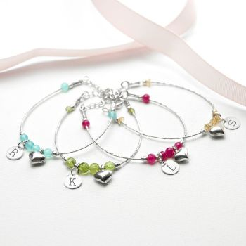 Daughter Personalised Initial Bracelet
