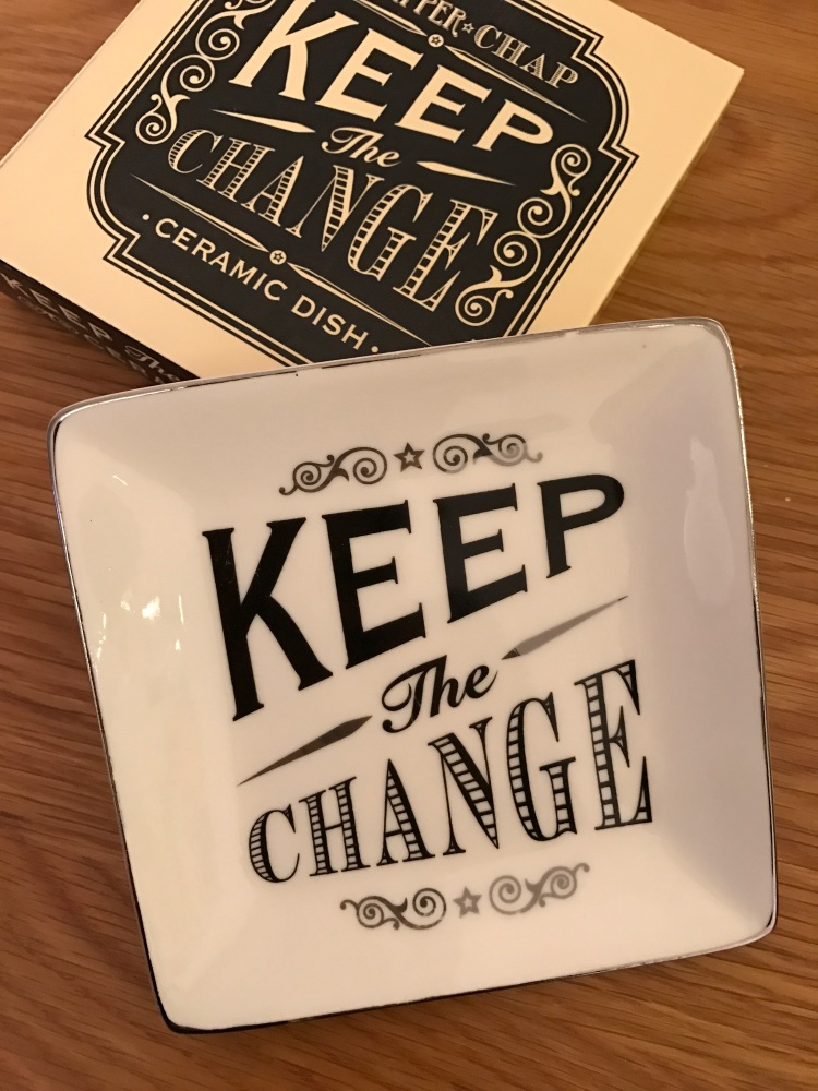 Keep The Change Ceramic Dish