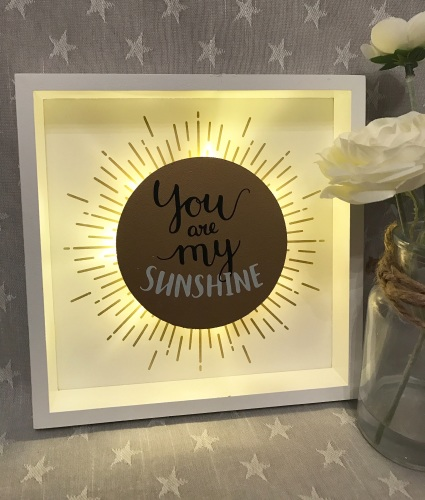 You Are My Sunshine LED Plaque