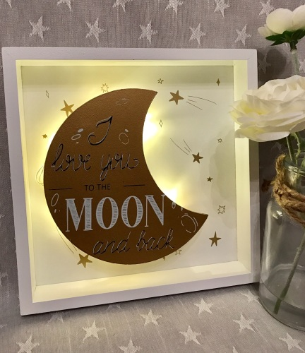 Love You To The Moon LED Sign