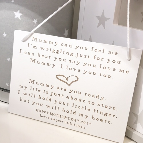 Mummy To Be Hanging Sign