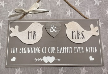 Mr & Mrs Happily Ever After Sign