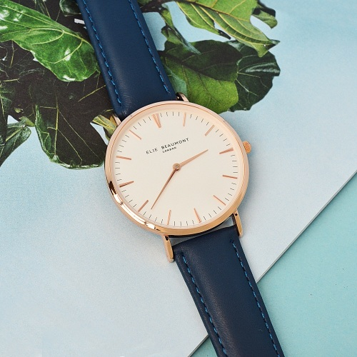 Ellie Beaumont Oxford Large Watch - Navy