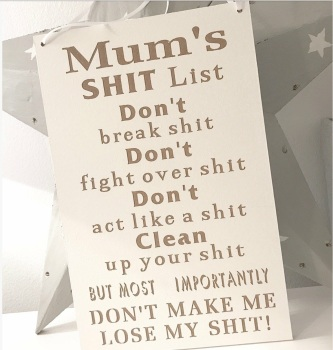 Mums Very Cheeky List!