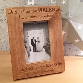 All The Walks Father's Day Wooden Frame
