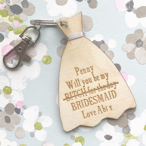 Will You Be My Bridesmaid Cheeky Keyring/Magnet