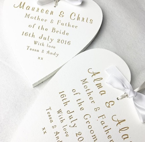 Parents Wedding Keepsake Heart