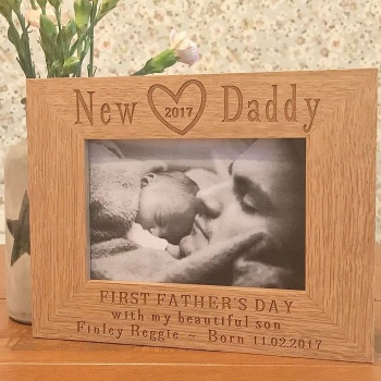New Daddy 2017 Photograph Frame