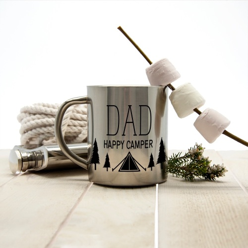 Happy Camper Personalised Outdoor Mug