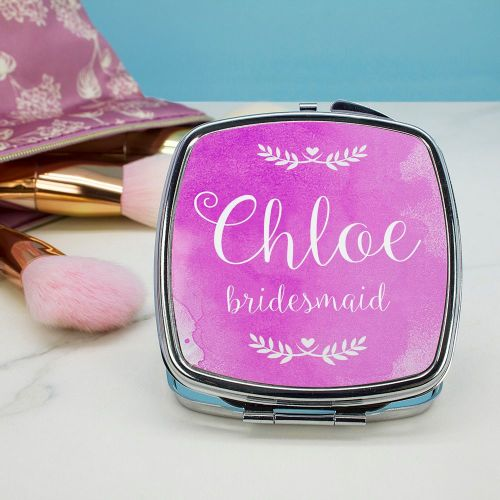 Square Personalised Compact Mirror