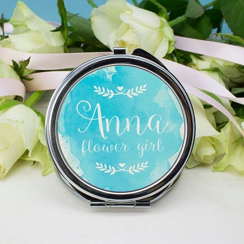 Round Personalised Compact Mirror
