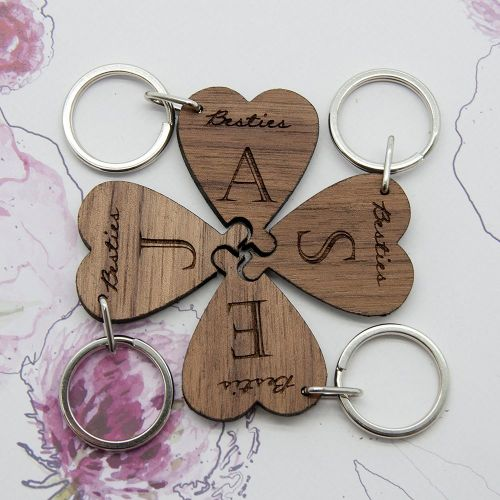 Besties Four Leaf Clover Keyring