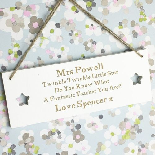 Twinkle Twinkle Teacher Plaque