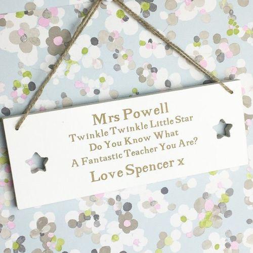 Twinkle Twinkle Teacher Plaque
